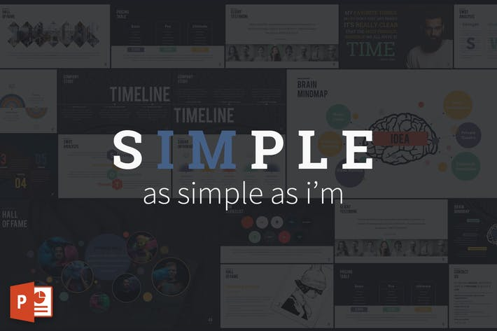 Cover Image For SIMPLE - Powerpoint Presentation Template