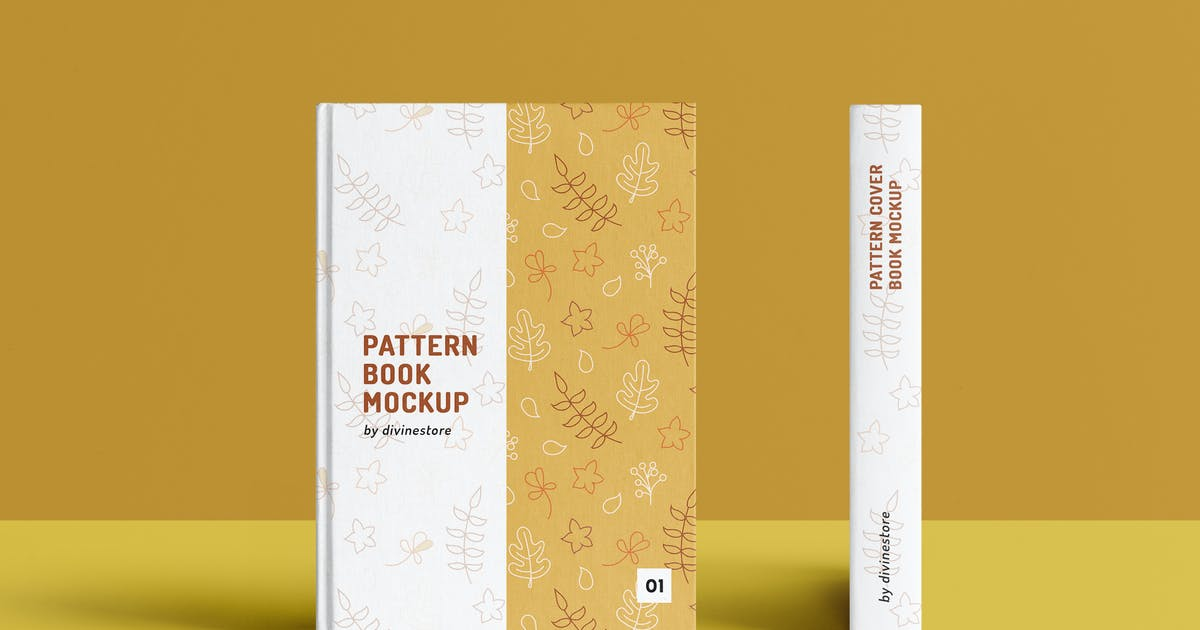 Download Pattern Cover Book Mockup by Divine-Store