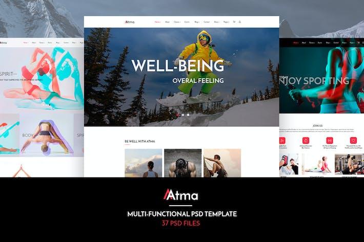 Thumbnail for Atma — Multipurpose Wellness | Sport | Yoga PSD