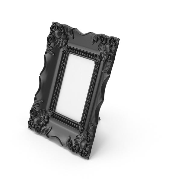 Baroque Picture Photo Frame Black