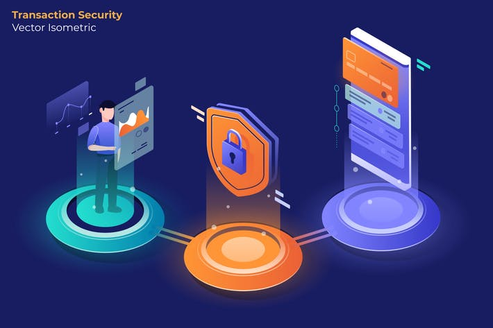 Transaction Security - Vector Illustration