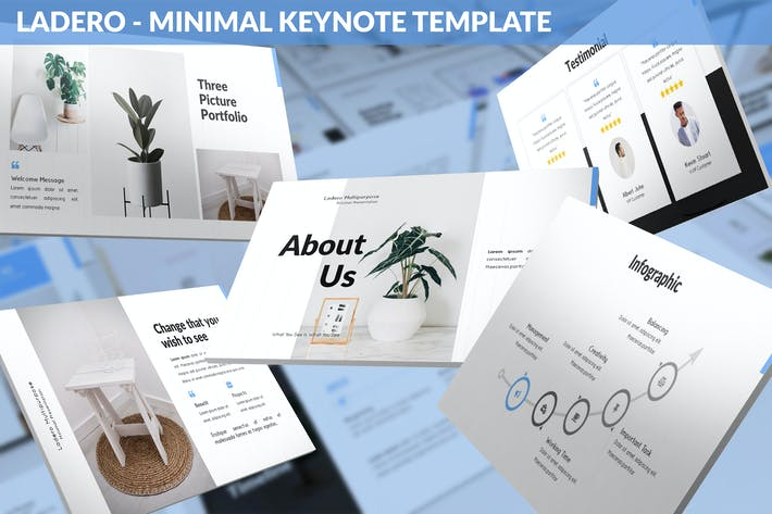 Thumbnail for Ladero - Minimal Keynote Template