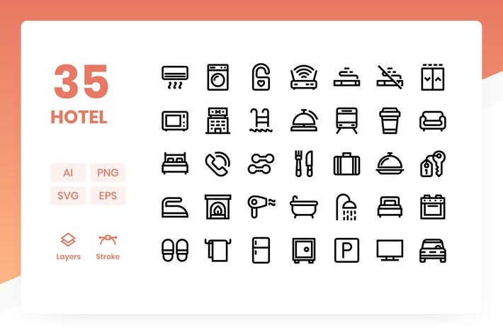 Thumbnail for Hotel - Icons Pack