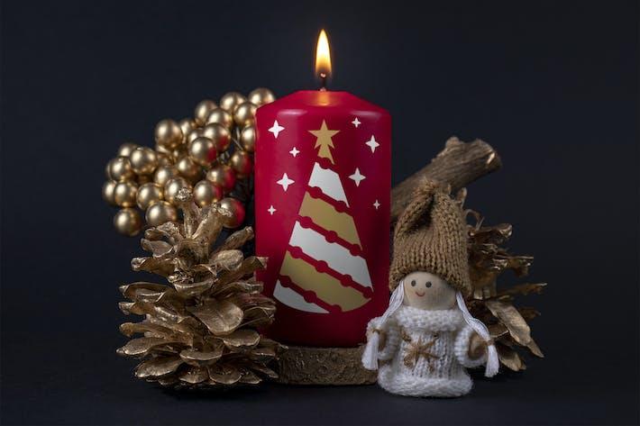 Thumbnail for Christmas candle mockup