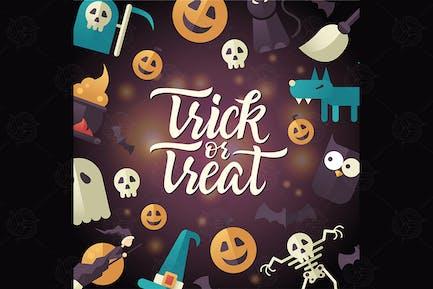 Trick or treat - Halloween celebration poster