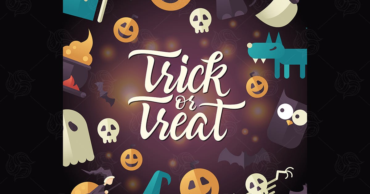 Download Trick or treat - Halloween celebration poster by BoykoPictures