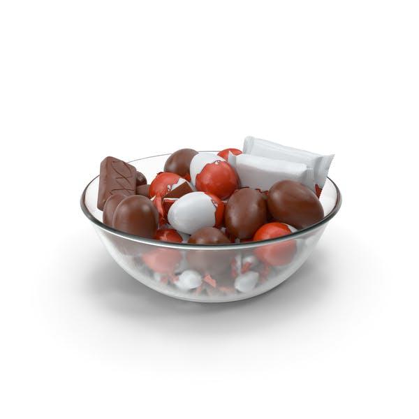 Чаша со смешанными шоколадными конфетами