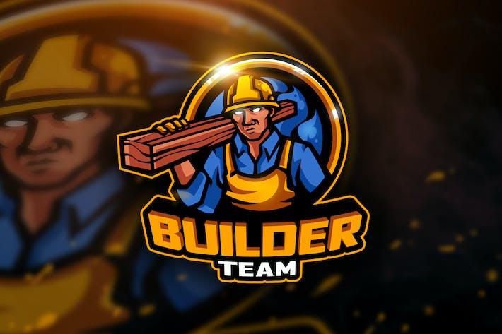 Thumbnail for Builder Team - Mascot & Esport Logo
