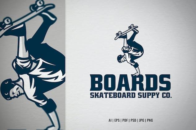 Skateboarder skateshop logo