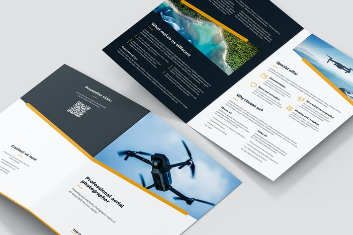 Thumbnail for Brochure – Drone Photographer Bi-Fold