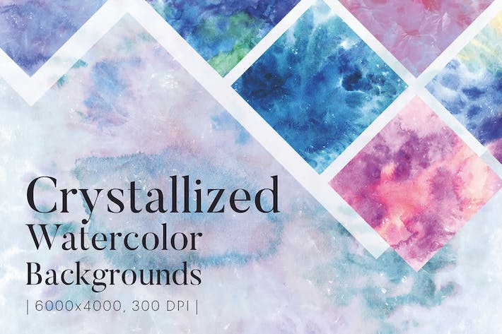 Thumbnail for Crystallized Watercolor Backgrounds