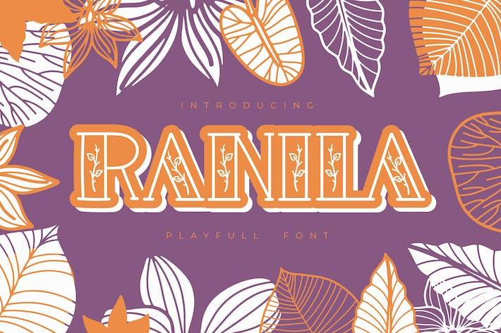 Thumbnail for Ranila | Playfull Font