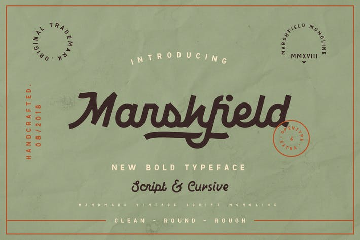 Thumbnail for Marshfield Typeface