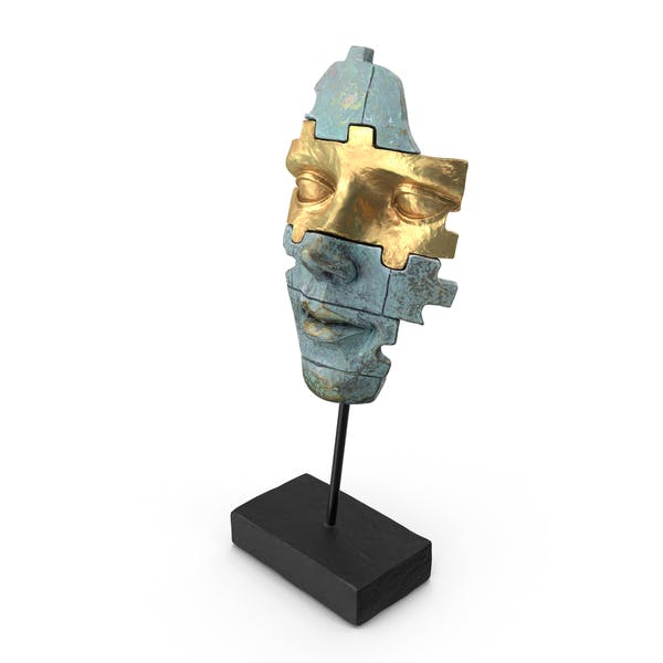 Thumbnail for Face Mask Statue