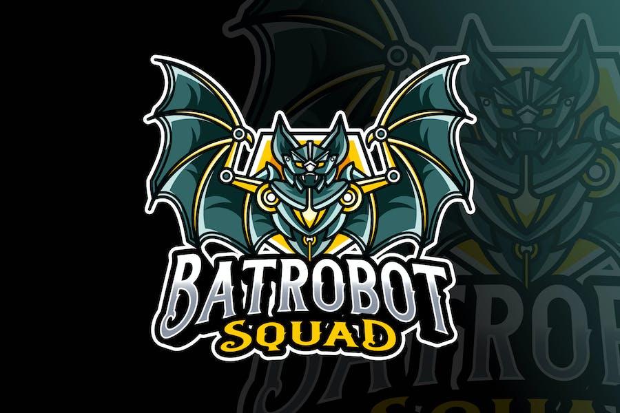Bat Robot Logo Template