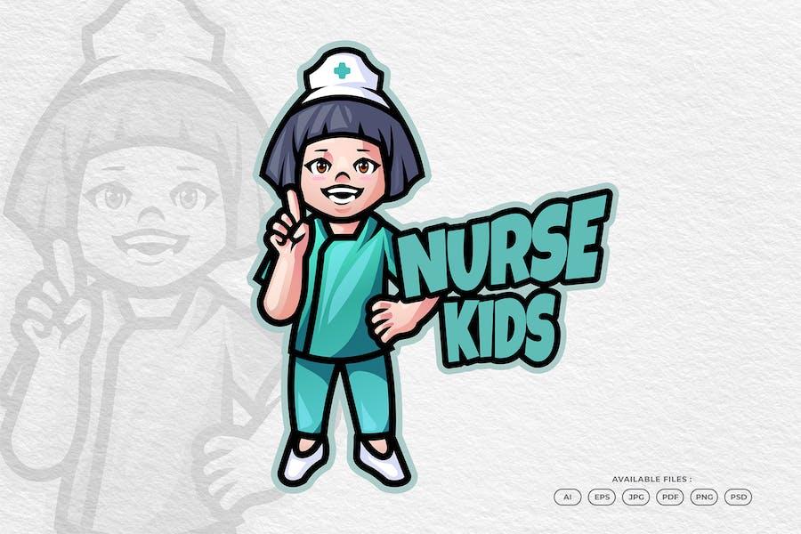 Medical Nurse and Health Care Mascot Logo