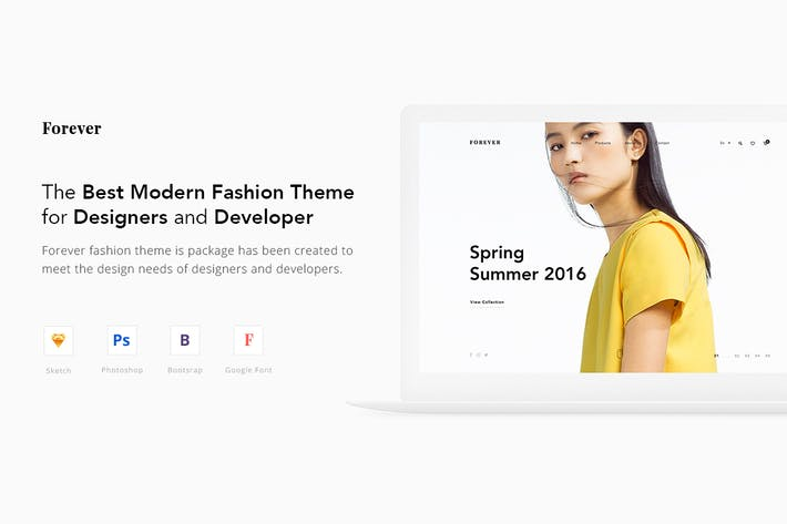 Thumbnail for Forever Fashion Theme UX / UI