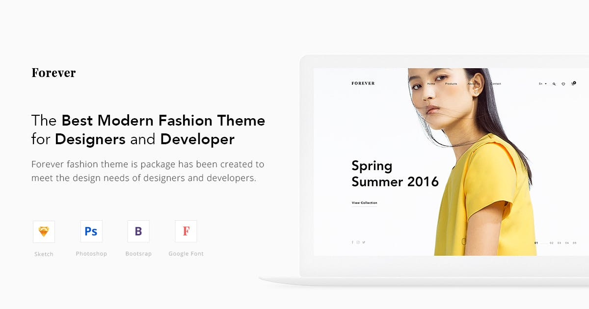 Download Forever Fashion Theme UX / UI by hifatihocak