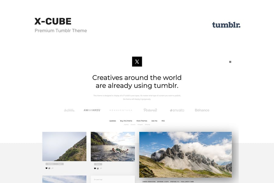X-Cube Portfolio, Grid-Based Tumblr Theme