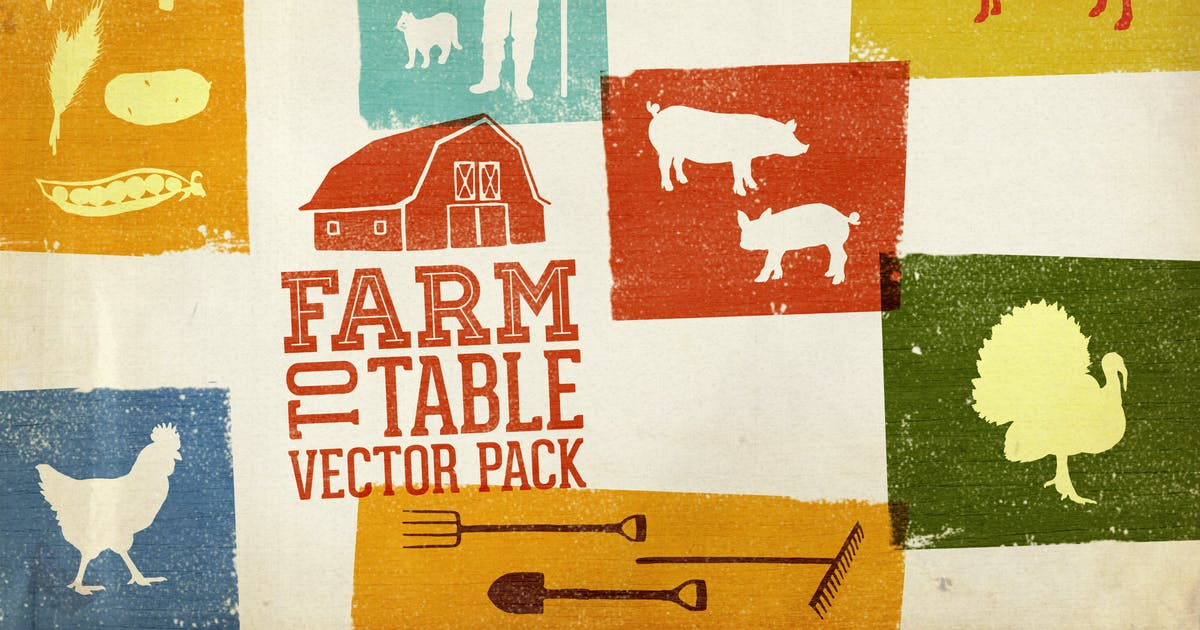 Download Farm to Table Vector Pack Volume 1 by DesignPanoply