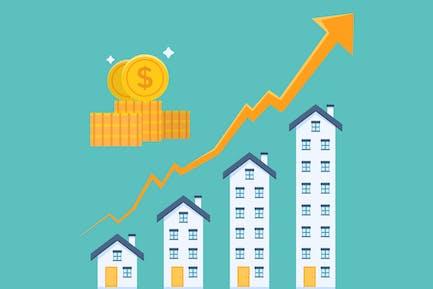 Real Estate Investment Graph Illustration