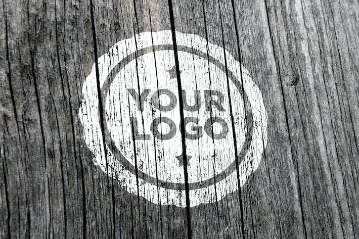 Thumbnail for Wood Logo Mockup 003