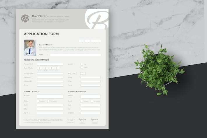 Thumbnail for Registration and Personal Data Form Template