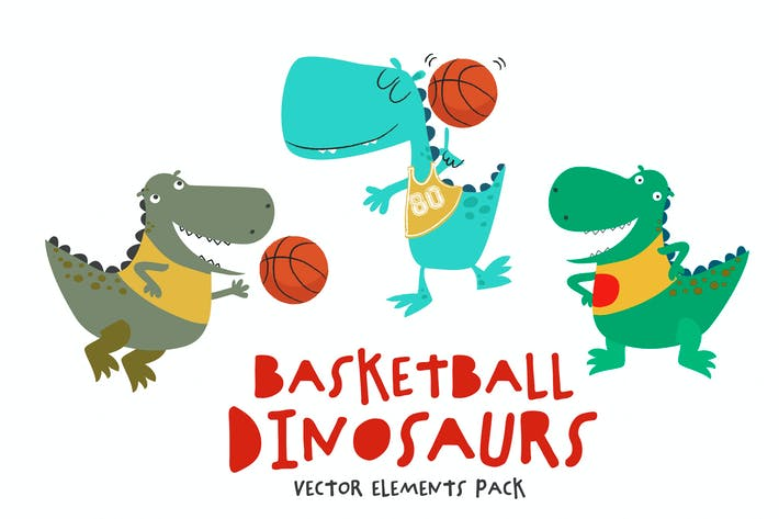 Thumbnail for Basketball Dinosaurs Pack