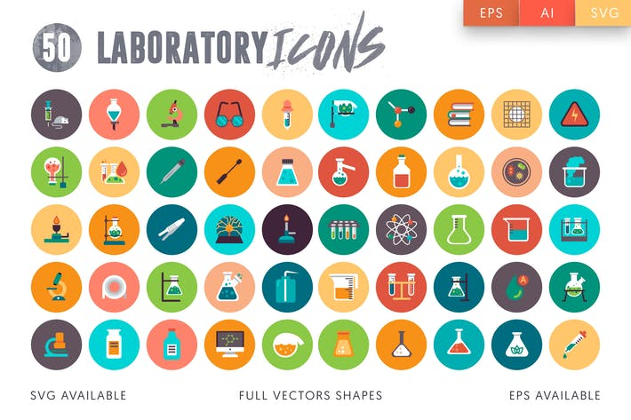 Thumbnail for 50 Laboratory icons