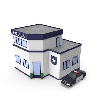 Cartoon Police Station