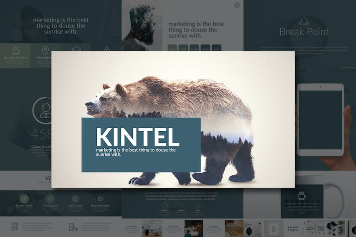 Thumbnail for Kintel Modern Portfolio Powerpoint