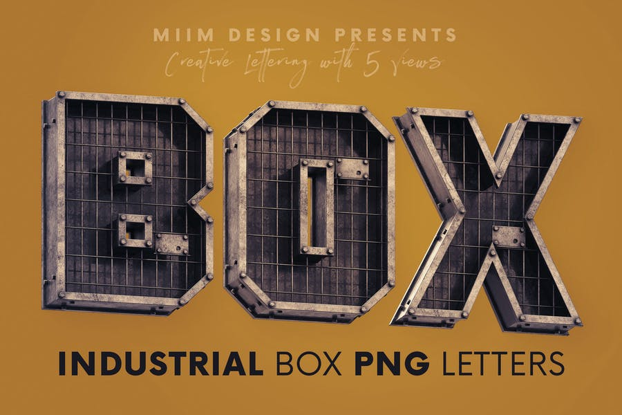 Industrial Box - 3D Lettering