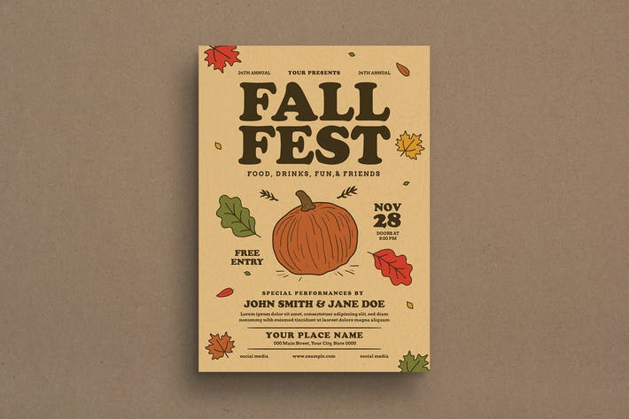 Thumbnail for Fall Festival Event Flyer