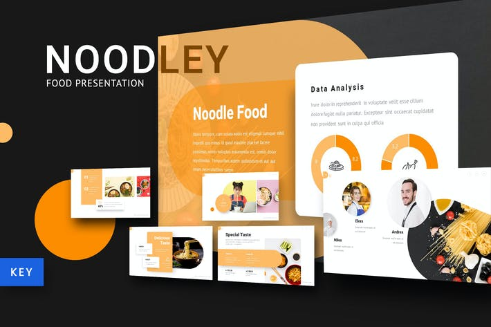 Thumbnail for Noodley - Food Keynote Template