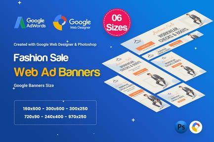 Fashion Sale Banners HTML5 D46 Ad - GWD & PSD