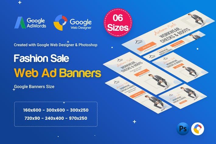 Cover Image For Fashion Sale Banners HTML5 D46 Ad - GWD & PSD