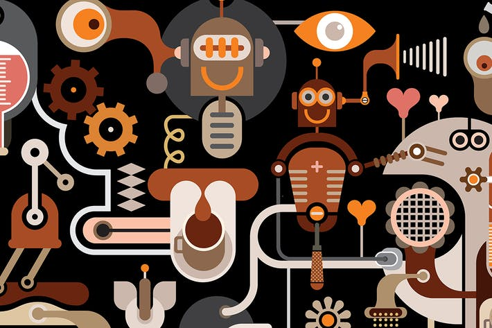Thumbnail for Fantastic Coffee Factory vector illustration