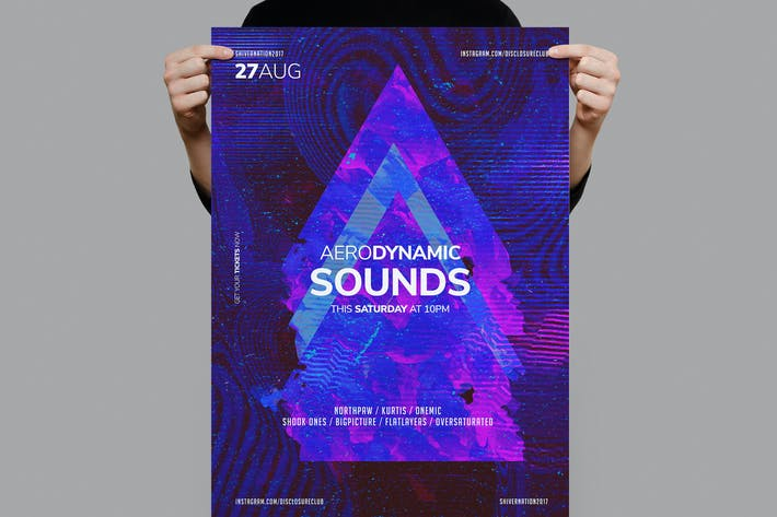 Thumbnail for Aerodynamic Sounds Flyer / Poster Template