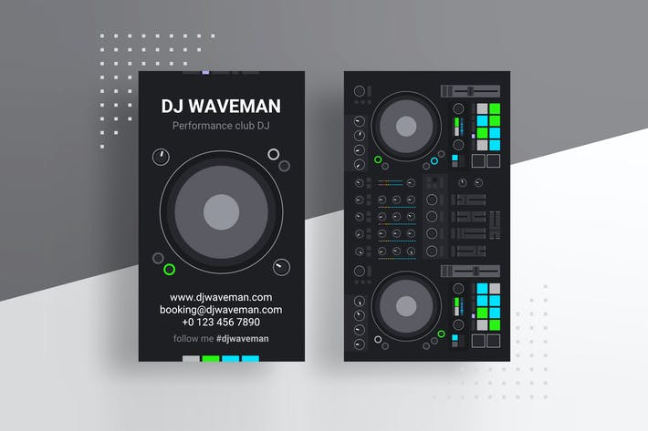 Thumbnail for Digital DJ Business Card PSD Template
