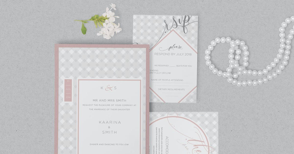 Wedding Invitation Card Psd Mockups By Zippypixels On Envato Elements