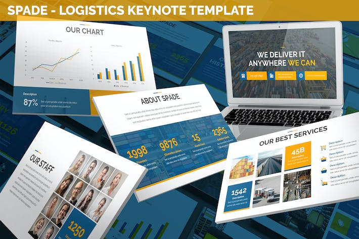 Thumbnail for Spade - Logistics Keynote Template