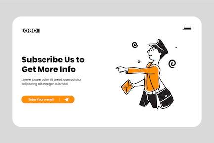 Corporate newsletter illustration