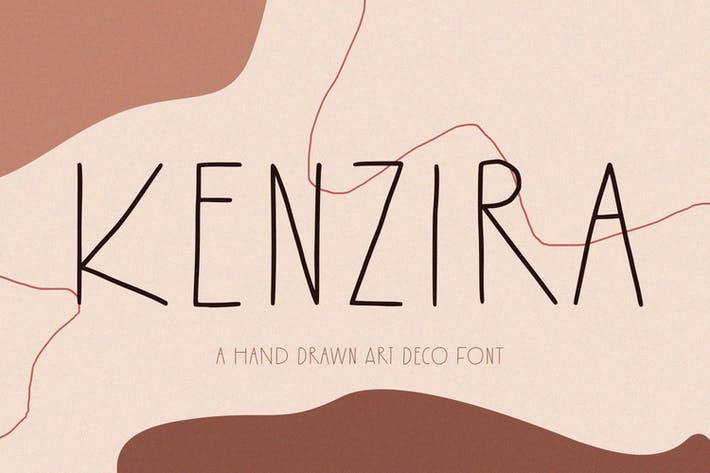 Kenzira - A Hand Drawn Art Deco Font