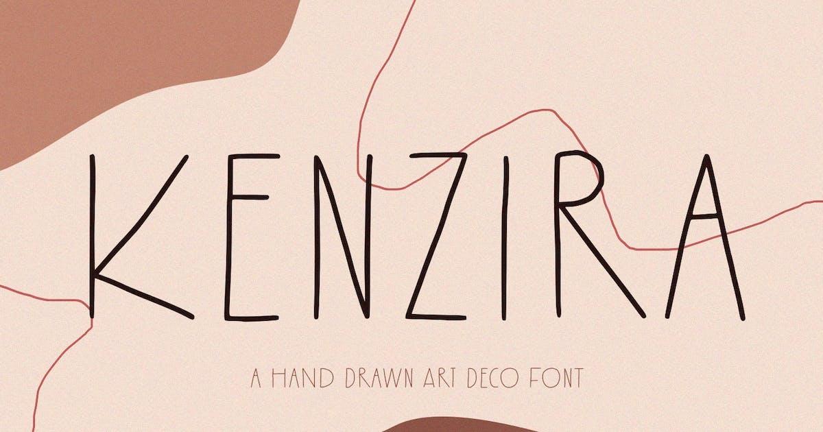 Download Kenzira - A Hand Drawn Art Deco Font by sameehmedia