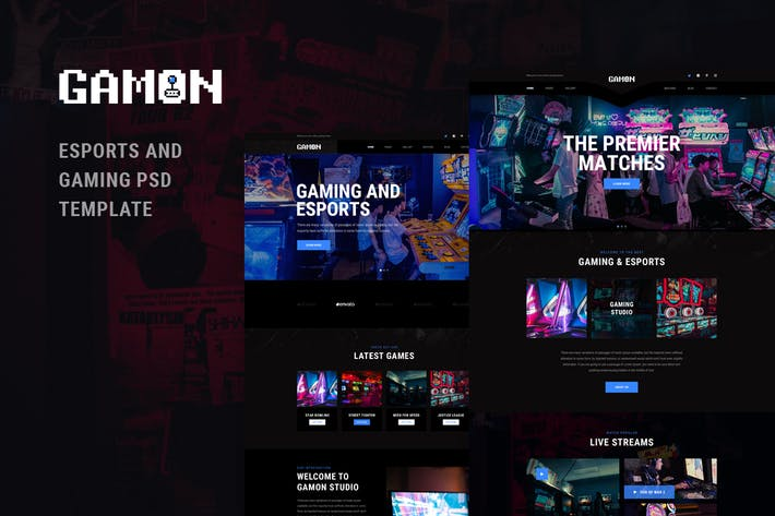 Thumbnail for Gamon - eSports and Gaming PSD Template