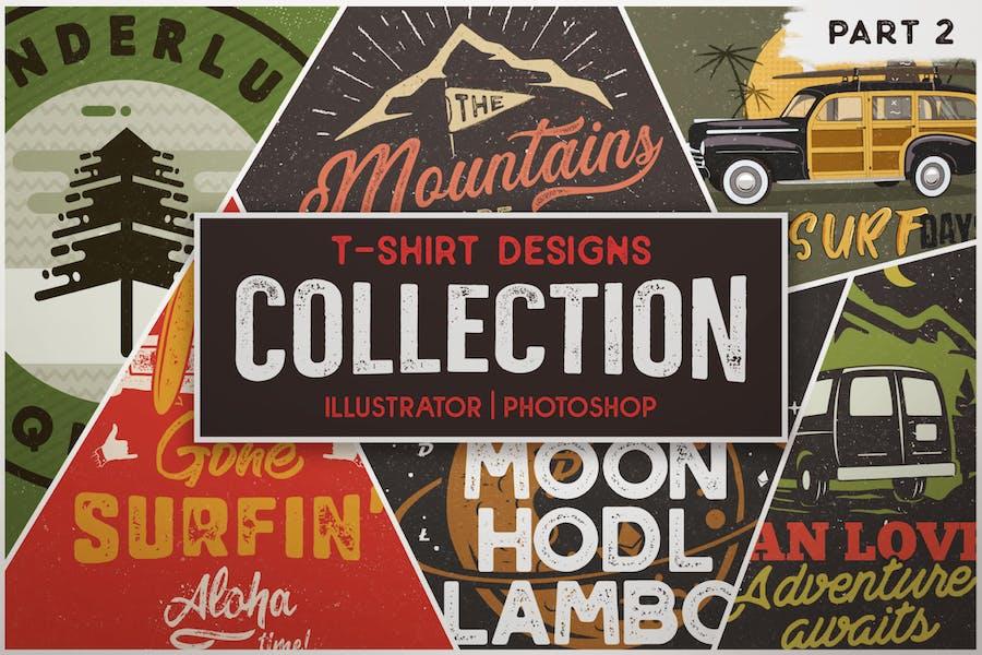 T-shirt Designs Retro Collection. Partie 2