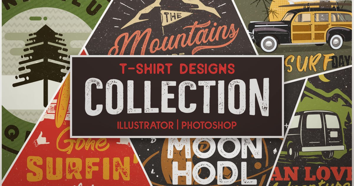 Download T-Shirt Designs Retro Collection. Part 2 by JeksonJS