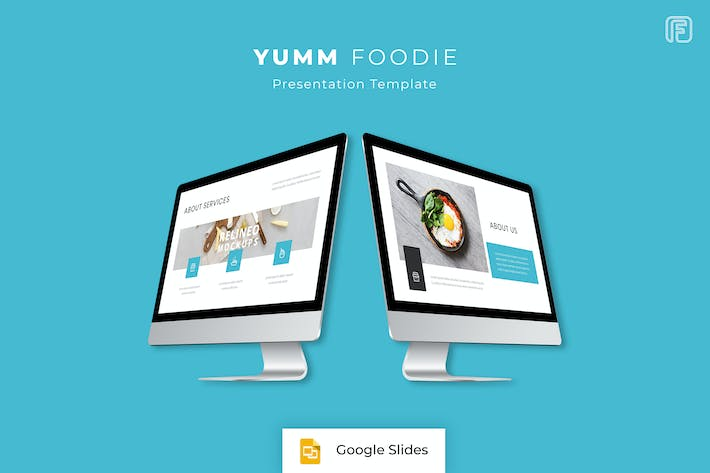 thumbnail for yumm foodie google slides template