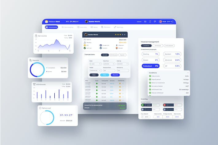 Thumbnail for Walance Bank Dashboard UI - T