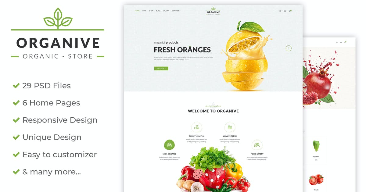 Download Organive - Organic Store & Eco Food by AuThemes